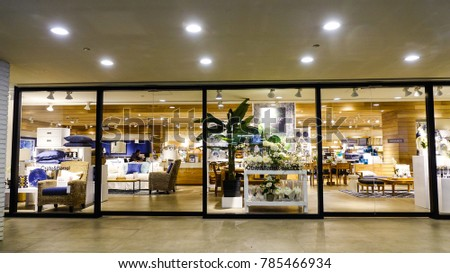 Manila, Philippines   Apr 12, 2017. Furniture Store At Downtown In Manila,