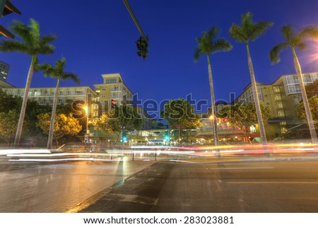 MANILA, PHILIPPINES - MAY 17, 2015 - City Center of Manila in the sunset. Taguig City of Manila, Philippines on May 17, 2015. - stock photo