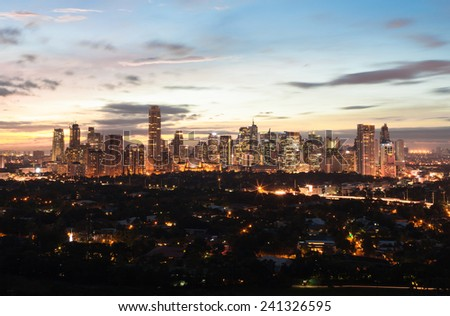 Manila skyline, Philippines - stock photo