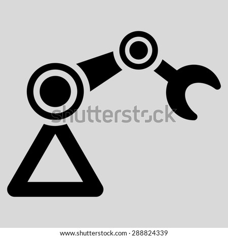 Manipulator icon from Business Bicolor Set. This flat raster symbol uses black color, rounded angles, and isolated on a light gray background. - stock photo