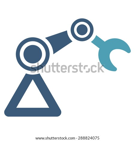 Manipulator icon from Business Bicolor Set. This flat raster symbol uses cyan and blue colors, rounded angles, and isolated on a white background. - stock photo