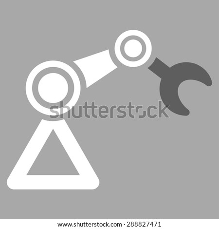 Manipulator icon from Business Bicolor Set. This flat raster symbol uses dark gray and white colors, rounded angles, and isolated on a silver background. - stock photo