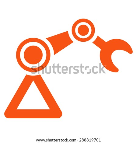 Manipulator icon from Business Bicolor Set. This flat raster symbol uses orange color, rounded angles, and isolated on a white background. - stock photo