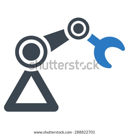 Manipulator icon from Business Bicolor Set. This flat raster symbol uses smooth blue colors, rounded angles, and isolated on a white background. - stock photo