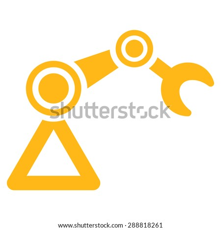 Manipulator icon from Business Bicolor Set. This flat raster symbol uses yellow color, rounded angles, and isolated on a white background. - stock photo