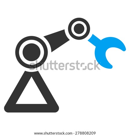 Manipulator icon from Business Bicolor Set. This isolated flat symbol uses modern corporation light blue and gray colors. - stock photo