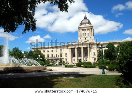 Manitoba Legislative Building in Winnipeg, Manitoba, Canada - stock photo