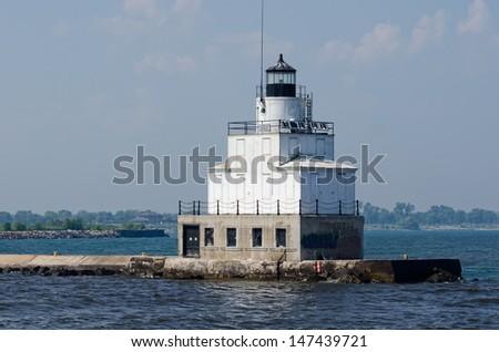 Manitowoc Breakwater Lighthouse, Wisconsin - stock photo