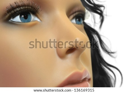 Mannequin face close up - stock photo