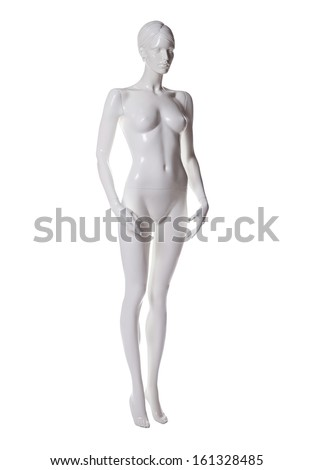 mannequin female isolated - stock photo