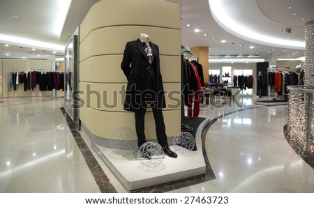Mannequin in clothes shop - stock photo