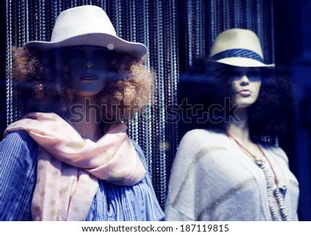 mannequin in hat. No brandnames or copyright objects.  - stock photo