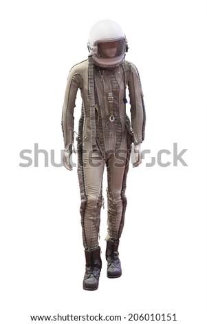 mannequin in military pilot uniform - stock photo