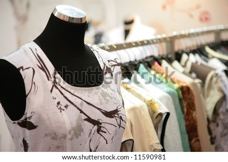 mannequin in shop - stock photo