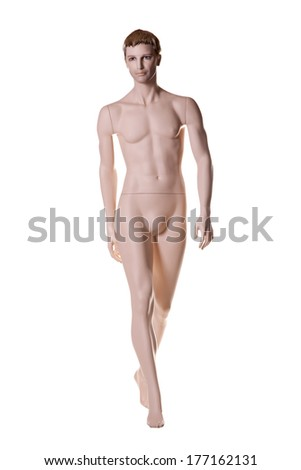 mannequin male isolated  - stock photo
