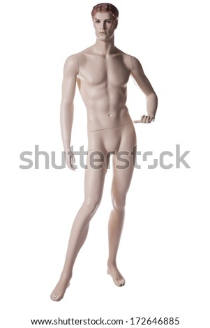 mannequin male isolated on white background - stock photo