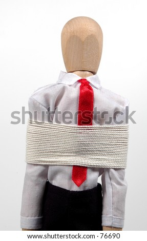 Mannequin Tied Up - stock photo