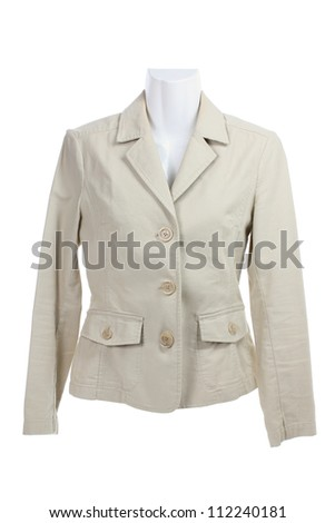 Mannequin with Jacket on White Background - stock photo