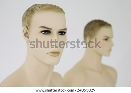 mannequins on white background