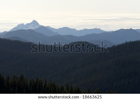 Manning Park, BC, Canada. Mountain scape.
