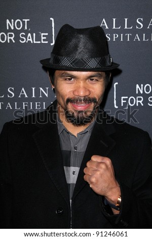 Manny Pacquiao at the AllSaints Spitalfields and Not For Sale Collection Launch, The Music Box, Hollywood, CA 10-24-11