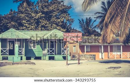 Mano Juan national park on Saona island in Dominican Republic - stock photo