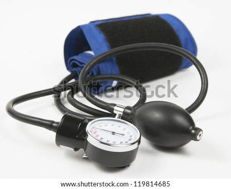 Manometer (blood pressure measuring device) on a light background