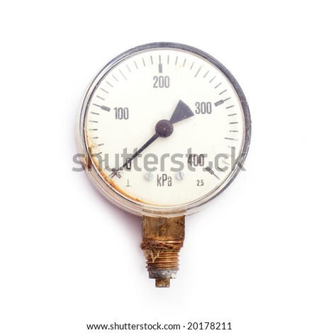 Manometer, clipping path - stock photo