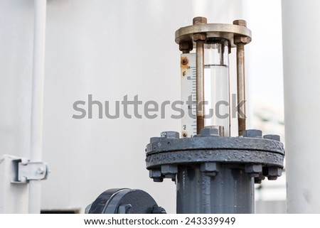 manometer for DI Water control in factory  - stock photo