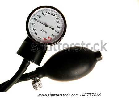Manometer from the tonometer for measuring blood pressure - stock photo