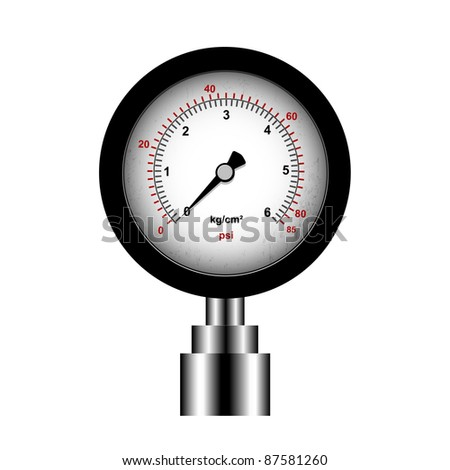 manometer isolated on a white background, vector - stock photo
