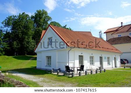 Manor in the north of Estonia. 18 century. Vihula. - stock photo