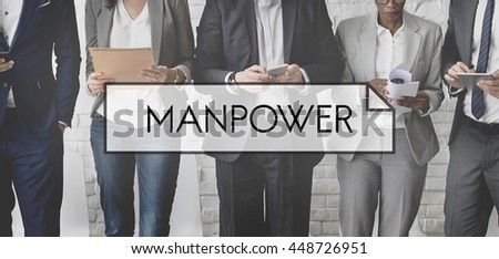 Manpower People  Company Worker Employment Concept - stock photo