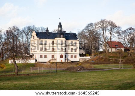 Mansion.  Houses and environment in Sweden.