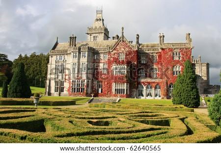 Mansion in Adare - stock photo