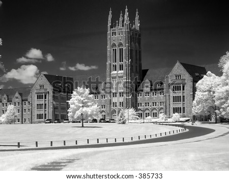 Mansion in Infra-red - stock photo