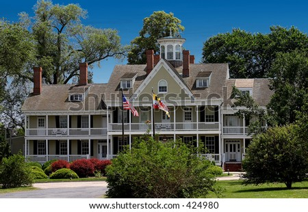 mansion in maryland - stock photo