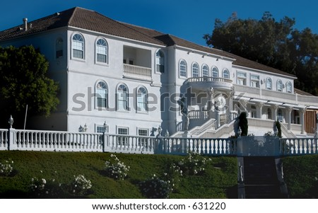 Mansion in White - stock photo