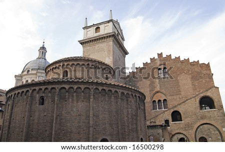 Mantua (Lombardy, Italy) - Medieval buildings in the main square, Piazza Sordello