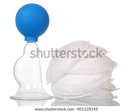 Manual breast and chest pads isolated on white background.
