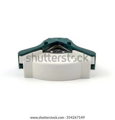 Manual cutter angles isolated on white