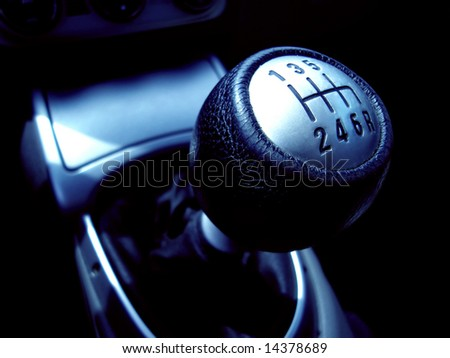 Manual Gearbox - speed concept - stock photo