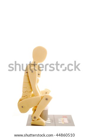 Manual handling isolated on white - stock photo