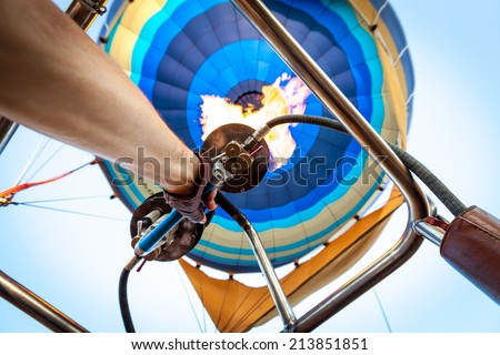 Manual operation of the gas burner balloon when lifting