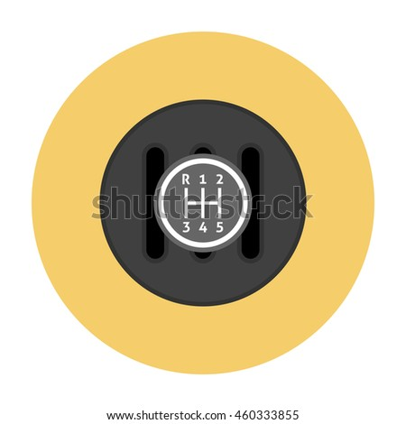 Manual Transmission flat icon. Gear shifter icon - stock photo