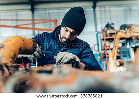manual worker on a workshop