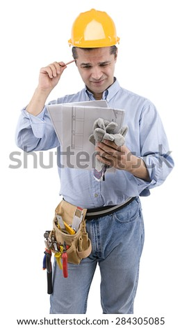 Manual Worker Thinking - stock photo
