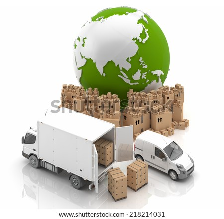 Manufacture in Asia - Transportation - stock photo