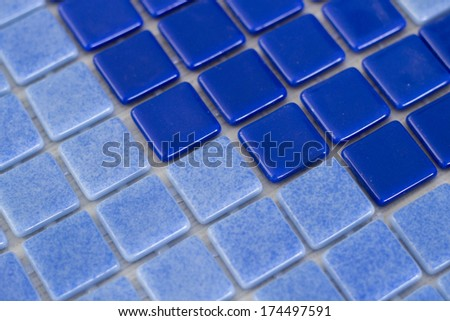 Manufacturing Blue mosaic tiles