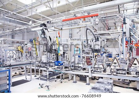 manufacturing parts for engine - stock photo